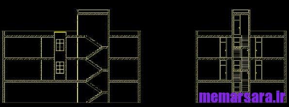 پروژه متره و برآورد کامل یک ساختمان 3 طبقه + پلان معماری
