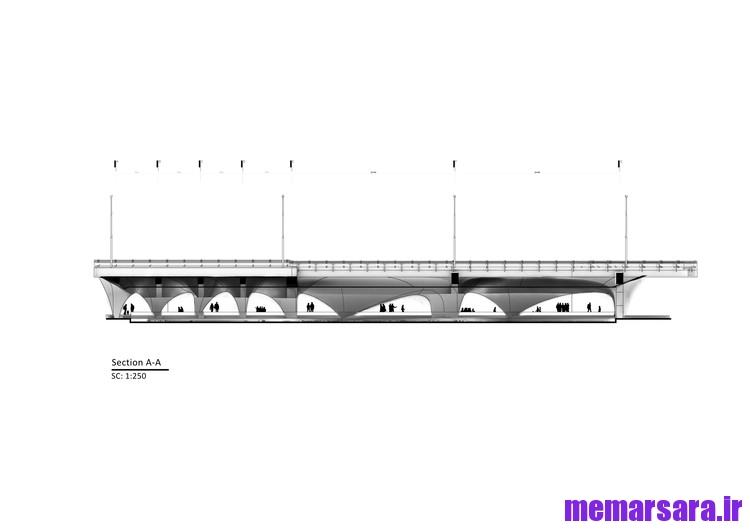 نقشه تبدیل پل میرداماد تهران به موزه005