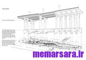 نقشه تبدیل پل میرداماد تهران به موزه009