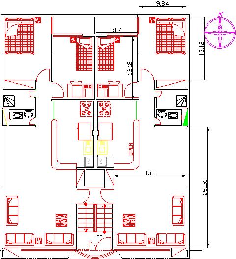 نقشه پلان ساختمان 0034234534