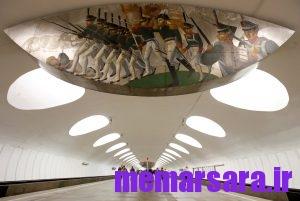 زیباترین متروی جهان در مسکو ! 011