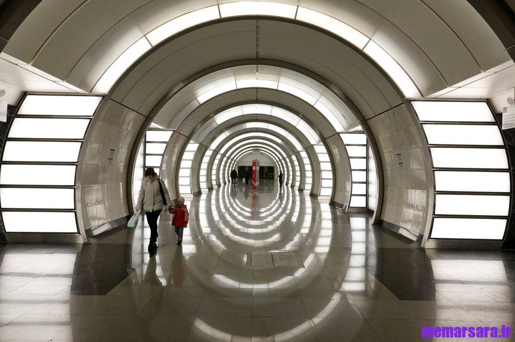 زیباترین متروی جهان در مسکو !