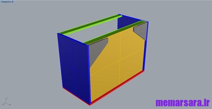 دانلود مدل سه بعدی کابینت 0016675675