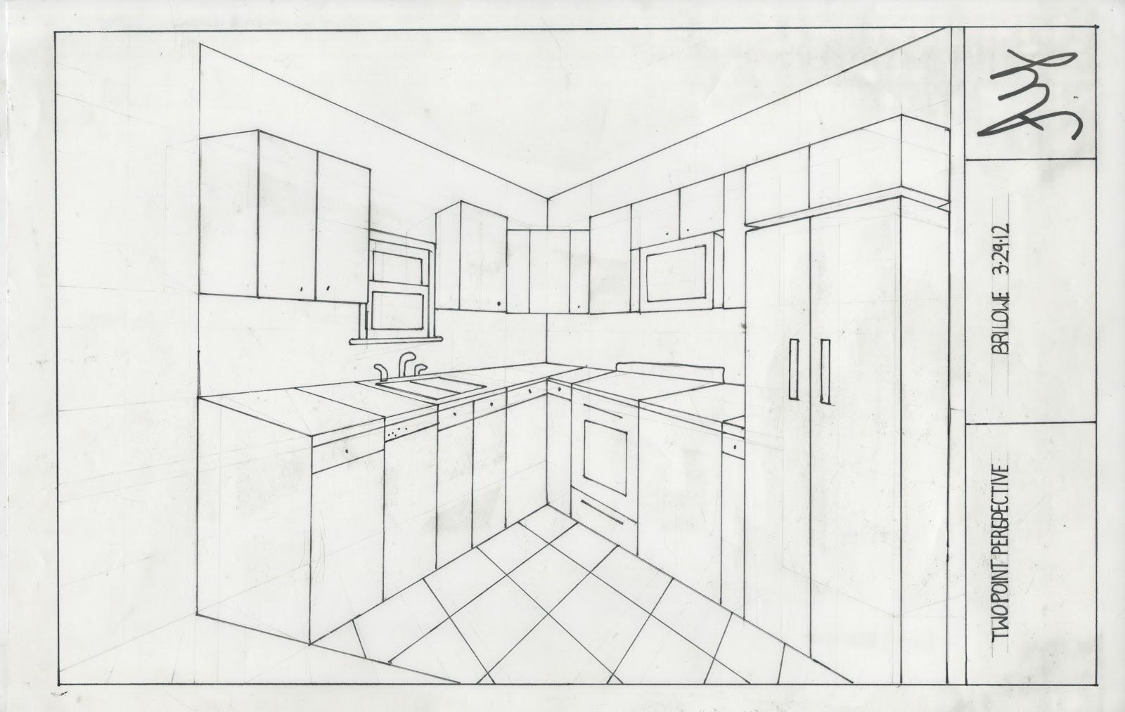2 point kitchen perspective - معمارسرا