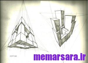 نمونه تصاویر پرسپکتیو سه نقطه ای 8