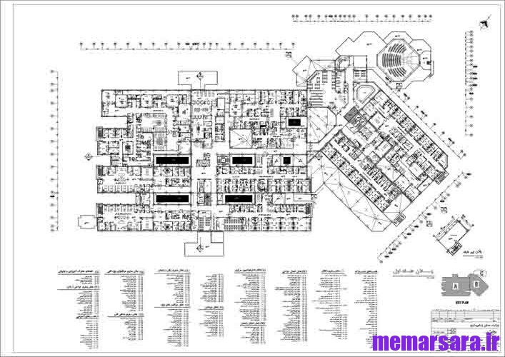 نقشه بیمارستان