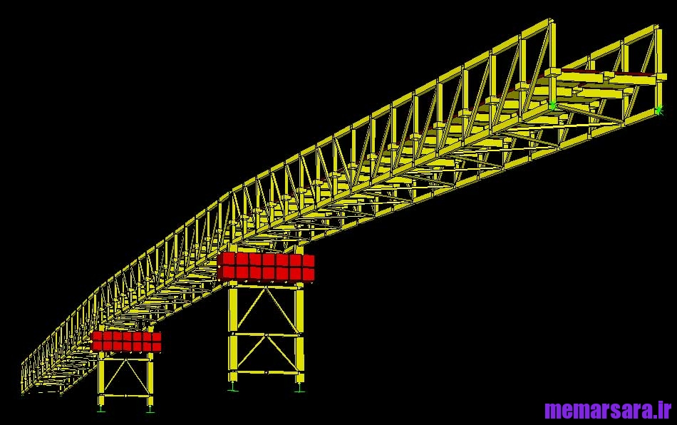 دانلود پروژه طراحی و آنالیز پل عابر پیاده فولادی+آموزش