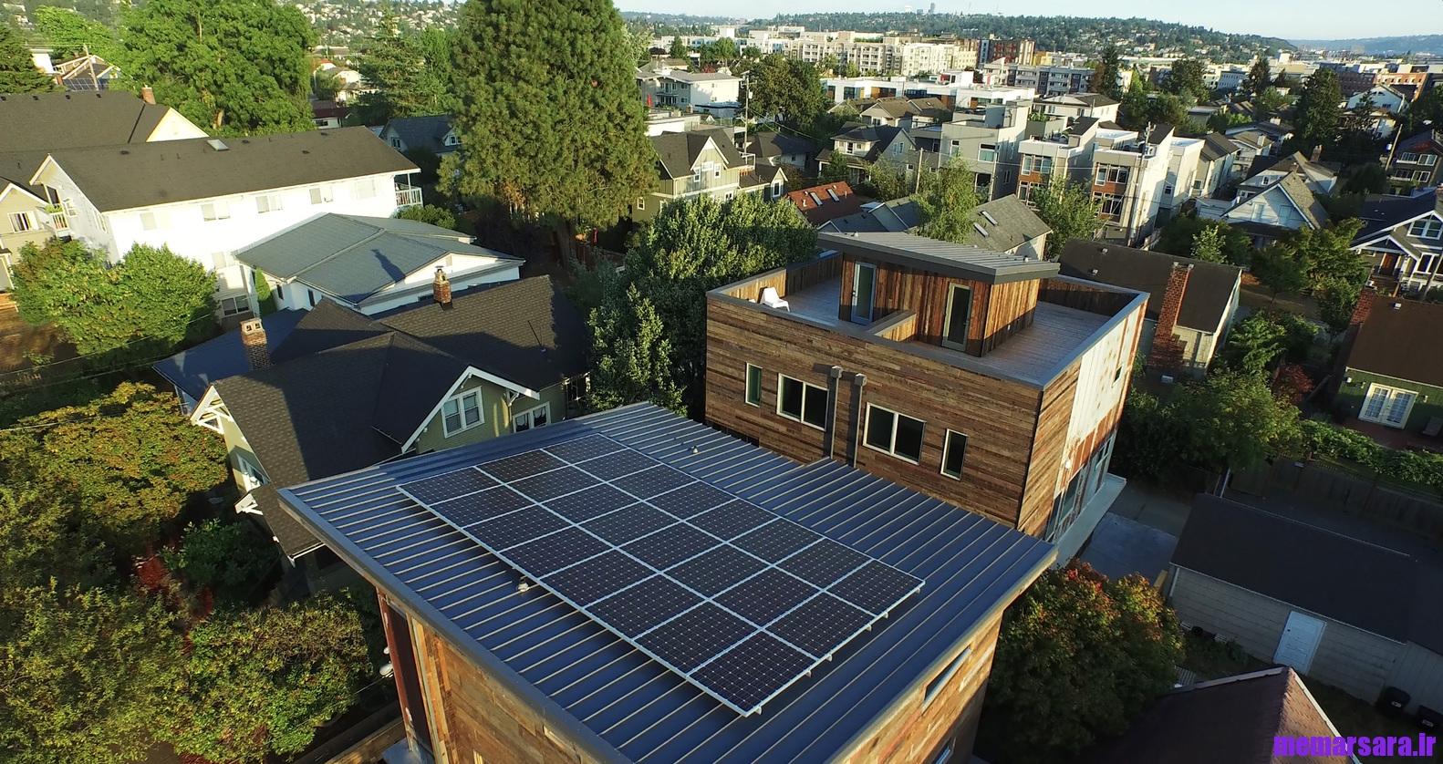 خانه ای سبز در ایالت سیتل آمریکا
