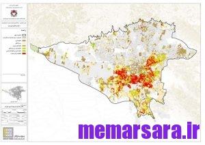 نقشه gis تهران