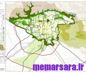 نقشه پوشش سبز تهران
