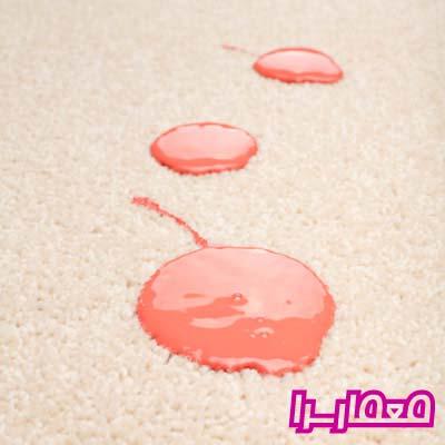 روش پاک کردن رنگ از روی فرش