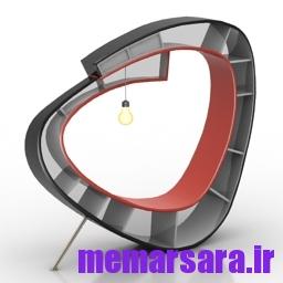 مدل سه بعدی قفسه کتاب کد N170315