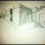 One point perspective drawing copy