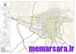 نقشه جاده های تهران
