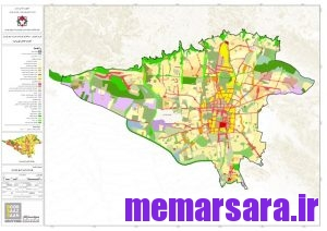 نقشه زونینگ تهران