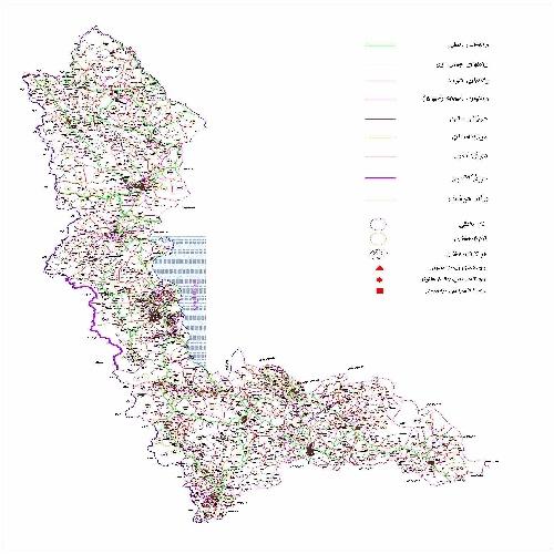 دانلود نقشه اتوکدی استان آذربایجان غربی