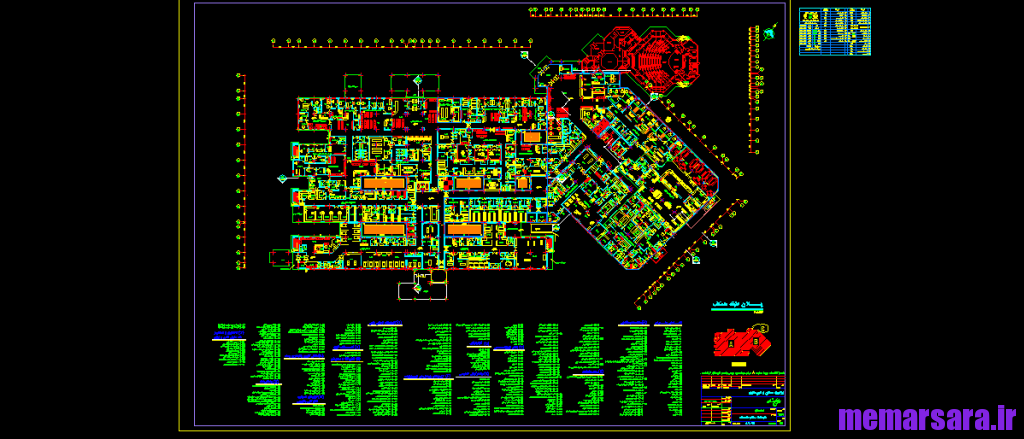 نقشه های اجرایی بیمارستان