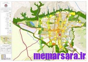نقشه gis تهران 2