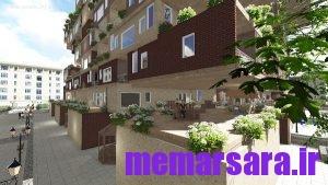 مجتمع مسکونی 3d max