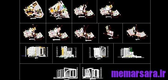 دانلود نقشه های معماری هتل 1