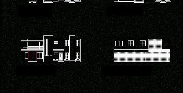 دانلود نقشه خانه ویلایی دوبلکس سه خوابه