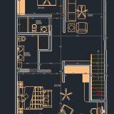 دانلود نقشه اتوکدی خانه دوبلکس مدرن 1121