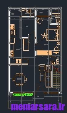 دانلود نقشه اتوکدی خانه دوبلکس مدرن 1122
