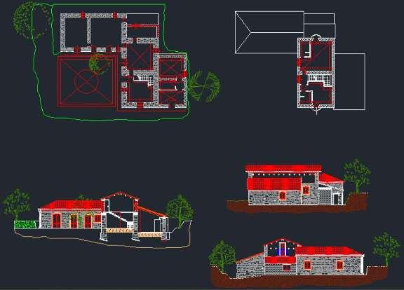 دانلود نقشه خانه ویلایی