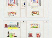 دانلود نقشه های معماری پمپ بنزین
