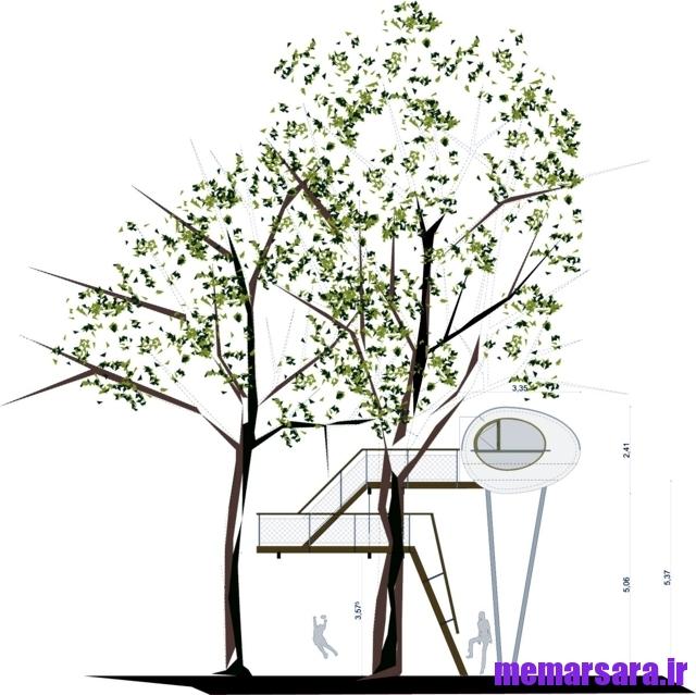 نمای خانه درختی