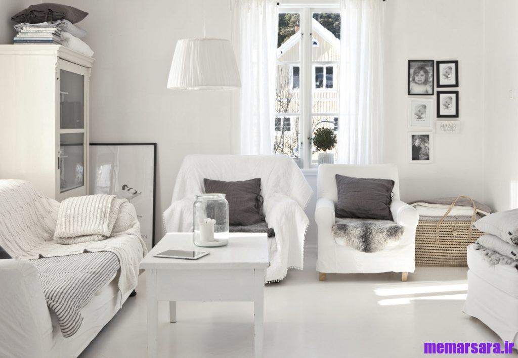 رنگ سفید در نشیمن