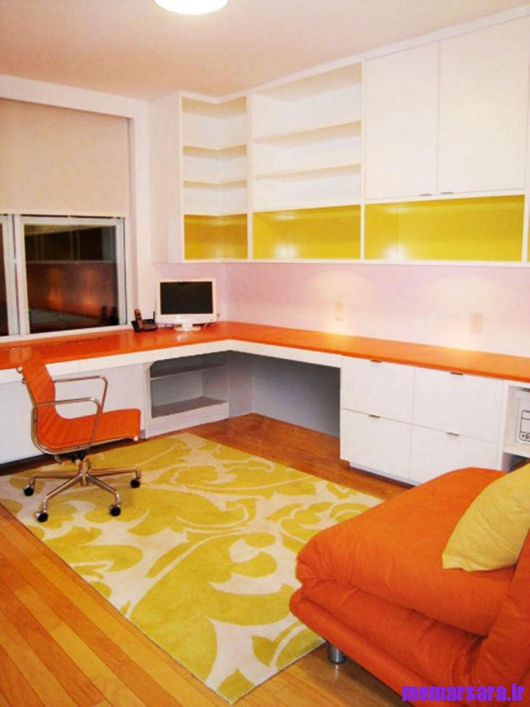 ترکیب زرد و نارنجی در دکوراسیون